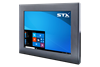 X7600 Industrial Panel PC - Front View - Matte Black Finish